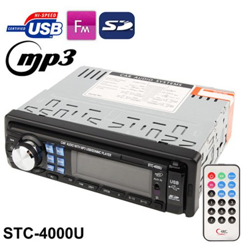 Car Audio System With Mp3 Player / Fm Radio / Remote Control, Support Usb / Sd Card / Aux In (Stc-4000U)