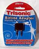 AIRPLANE HEADPHONES JACK ADAPTER PLUG AIRLINE ADAPTOR EARPHONE EAR AUDIO TRAVEL
