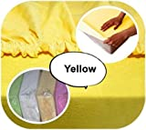 Baby Crib JERSEY Fitted Sheet 90x40cm 100 Cotton Yellow