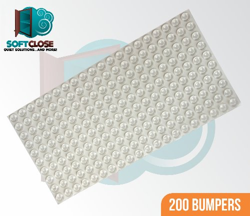 "Sheet Of 200 Softclose Door & Drawer Bumpers 1/2"" Diameter - Highest Quality - Made In Usa - Scb01-200 front-213620"