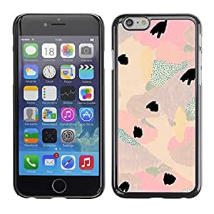 Omega Covers - Snap on Hard Back Case Cover Shell FOR Iphone 6/6S (4.7 INCH) - Watercolor Pastel Tone Colors Teal Pink