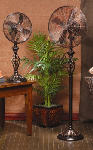 Deco Breeze Table Top Fan Prestige Rustica 1