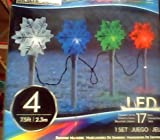gemmy gentle show:Gemmy xmas Led Set snowfall Flake Pathway gentle Show four Pc.