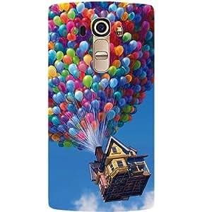 Casotec Ballon House Design Hard Back Case Cover for LG G4