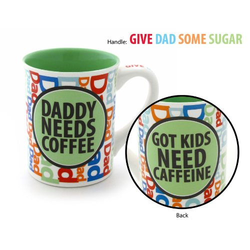 Enesco Our Name Is Mud By Lorrie Veasey Daddy Coffee Mug, 16-Ounce