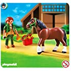 PLAYMOBIL Shire Horse with Groomer and Stable