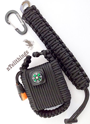 PARACORD SURVIVAL BRACELET AND EMERGENCY OUTDOOR WRISTBAND COMBINED WITH SURVIVAL 550 PARACHUTE CORD WRAPPED TACTICAL SURVIVAL ITEMS GRENADE POD WITH