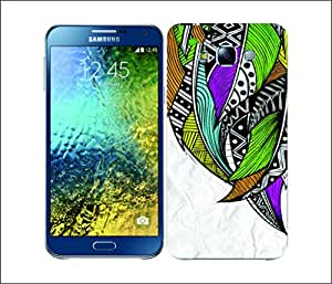 Galaxy Printed 2971 Tribal Feather Neon Hard Cover for Samsung ACE 3 (7272)