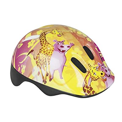 KIDS CHILDRENS BOYS GIRLS CYCLE SAFETY HELMET BIKE BICYCLE SKATING 49-56cm(Giraffe) by Spokey
