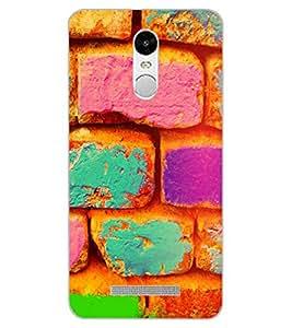 ColourCraft Colourful Bricks Design Back Case Cover for XIAOMI REDMI NOTE 3 PRO