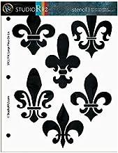 Large Fleur De Lis Stencil - 8 12quot x 11quot