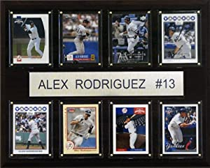 MLB Alex Rodriguez New York Yankees 8 Card Plaque by C&I Collectables