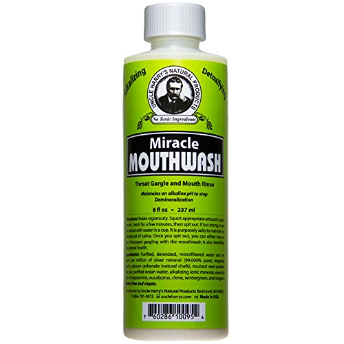 Uncle Harry's Natural Alkaline Miracle Mouthwash, 8 Fl Oz (All Natural Products compare prices)