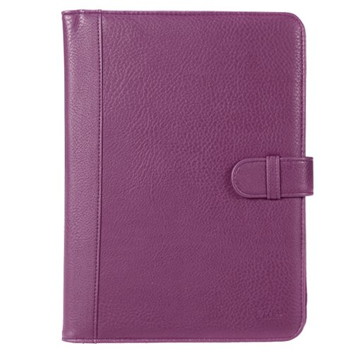 GTMax Purple Executive Durable Texture Leather Protector Cover Wallet Case for Motorola Xoom Android Tablet (10.1-Inch, 32GB, Wi-Fi)