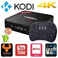 Rominetak [Wireless Mini Touchpad Keyboard] + T95M Android 5.1 Lollipop TV Box Quad Core 1G/8G 4K UHD 3D HDMI Kodi 16.1 Fully Loaded Rooted Unlocked Miracast Google Streaming Media Player WiFi DLNA by Rominetak