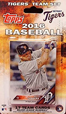 Detroit Tigers 2016 Topps Factory Sealed Special Edition 17 Card Team Set with Justin Verlander Miguel Cabrera Plus