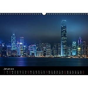 Nachts(ch)ichten (Wandkalender 2016 DIN A3 quer): Nachtfotografien aus Großstädten (Monatskalender