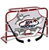 Winnwell USA Hockey Pro Style Mini Net Set w/Two Sticks, Ball and Shooter Target. USA9093SM