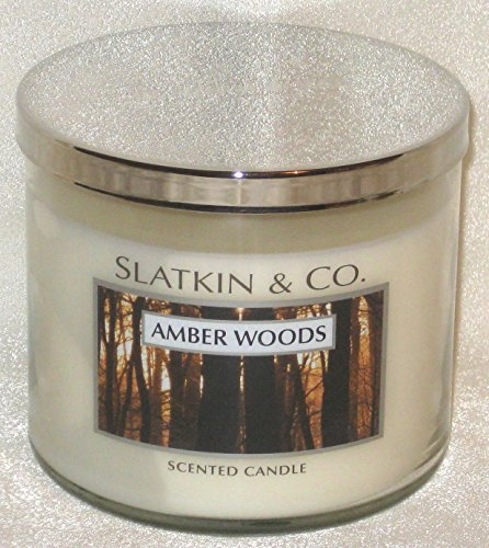 Bath & Body Works Slatkin & Co. Amber Woods 3-wick Candle