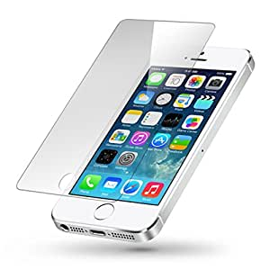 SNOOGG Pack of 7 ApPLPK7e iPhone 5 Full Body Tempered Glass Screen Protector [ Full Body Edge to Edge ] [ Anti Scratch ] [ 2.5D Round Edge] [HD View] - White
