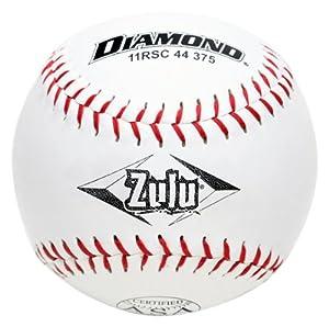 Buy Diamond Sports 11RYSC 44 375 ASA Leather Optic Softball, Dozen by Diamond Sports