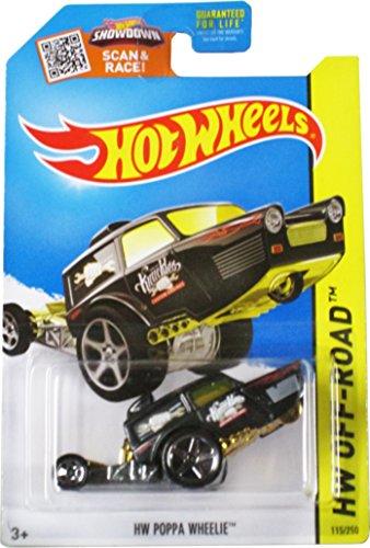 Hot Wheels 2015 Hw Off-Road Black Hw Poppa Wheelie - Stunt Circuit 115/250