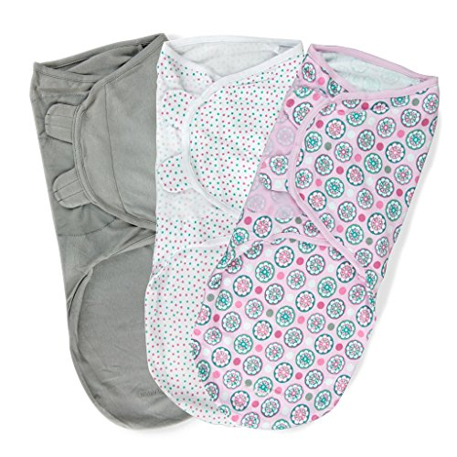 Summer Infant SwaddleMe Adjustable Infant Wrap, 3 Count - 1