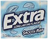 Wrigleys Extra Smooth Mint Gum 15 Stick 40.5 g (Pack of 5)
