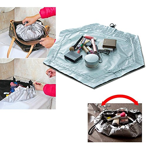 2 In 1 Travel Cosmetic Makeup Bag Work Mat Pouch