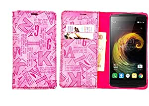 R&A Pu Leather Wallet Case Cover For Micromax Canvas 2.2 A114