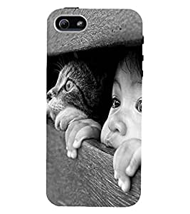 D KAUR Cute Baby Kitty Back Case Cover for Apple iPhone 5::Apple iPhone 5S