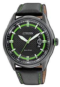 Citizen Herren-Armbanduhr XL Analog Quarz Leder AW1184-05E