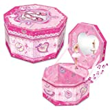 Octagonal Musical Jewelry Box: Ballerina Theme
