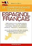 Correspondance commerciale, espagnol-français...