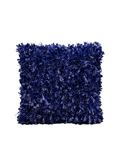 Nourison Michael Amini Shag Pillow, Blue