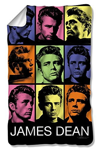 James Dean Color Block Fleece Blanket DEA489BKT