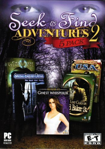 Seek & Find Adventures 2 Bonus 5 Pack: Ghost Whisperer+Lost Cases of 221B Baker St+Cate West and the Velvet Keys+Antique Road Trip USA+Special Enquiry Detail PC NEW