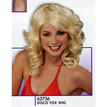 Charlies Angels Blonde 70s Disco Party Costume Wig Adult: Clothing