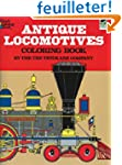 ANTIQUE LOCOMOTIVES. Coloring book