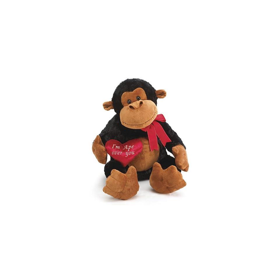 Jumbo Valentines Day Plush Monkey Im Ape Over You Stuffed Animal