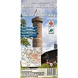 Harzer BaudenSteig & Harzer Försterstieg: Rad- und Wanderkarte im Maßstab 1:30 000