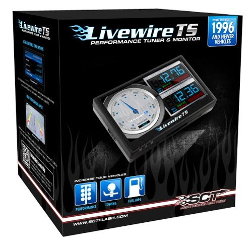 Combo: Ford 2005 6.0 Powerstroke Sct Livewire Ts Tuner Programmer Chip & Digital Gauges Performance 5015 +3 Free Mpt Custom Tunes +Shipping