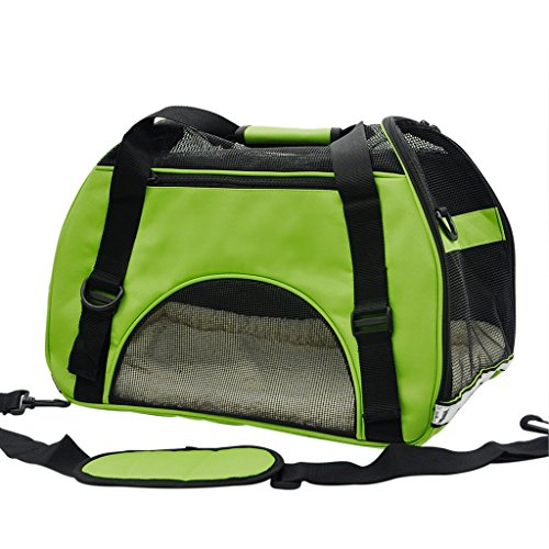 Pet Cuisine Breathable Soft-sided Pet Carrier, Cats Dogs Travel Crate Tote Portable Handbag Shoulder Bag Outdoor Green S