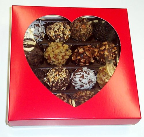 Scott's Cakes Mixed Chocolate Balls 1 Lb. Heart Box