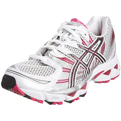 Asics Women's Gel Nimbus 12 Running Shoe White/Titanium
