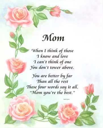 in love with you poems. Mom I Love You Poem With Pink