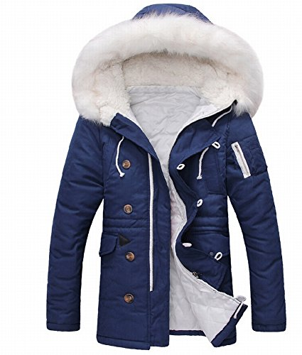 Tm Asual Warm Hooded Faux Fur Long Cotton-Padded Winter Jackets Coats Lover