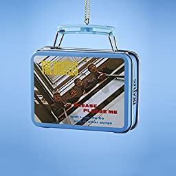 1 X The Beatles Kurt Adler Ornament- Mini Lunch Box- Beatles Debut Album-Please Please Me by Kurt S Adler