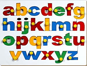 Little Genius Little Genius English Alphabets Lowercase with Knob