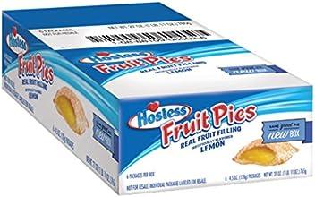 Hostess Fruit Pies Lemon 45 Ounce Pack of 6